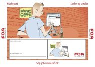 WEB a-kasse Huskekort til koder og aftaler - FOA