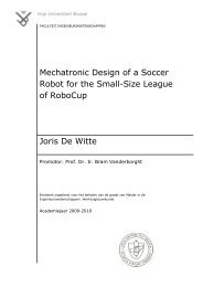 Mechatronic Design of a Soccer Robot for the Small-Size League of ...