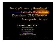 The Application of Broadband Constant Beamwidth ... - Audio Artistry