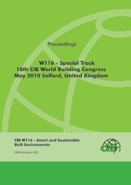 CIB W116—Smart and Sustainable Built Environments - Test Input