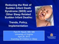 and Other Sleep Related Sudden Infant Deaths