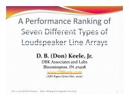A Performance Ranking of Seven Different Types of ... - Audio Artistry