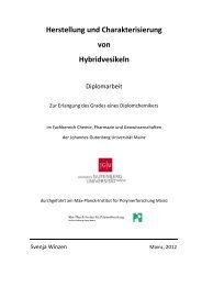 Herstellung und Charakterisierung von Hybridvesikeln - PubMan