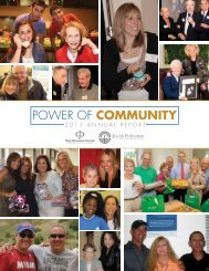 2011Annual Report - Jewish Federation of South Palm Beach County