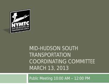 Presentation - New York Metropolitan Transportation Council