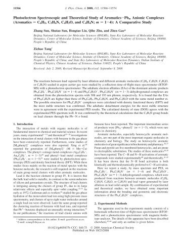 Photoelectron Spectroscopic and Theoretical Study of Aromatics ...