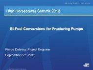 Bi-Fuel Conversions on Fracturing Pumps - HHP