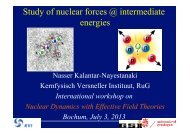 Study of nuclear forces @ intermediate energies