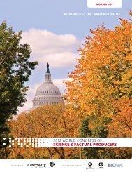 november 27–30 washington, dc - World Congress of Science and ...