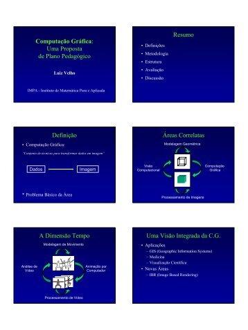 Computação Gráfica: Uma Proposta de Plano ... - Visgraf - Impa