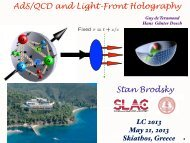 AdS/QCD and Light-Front Holography Stan Brodsky