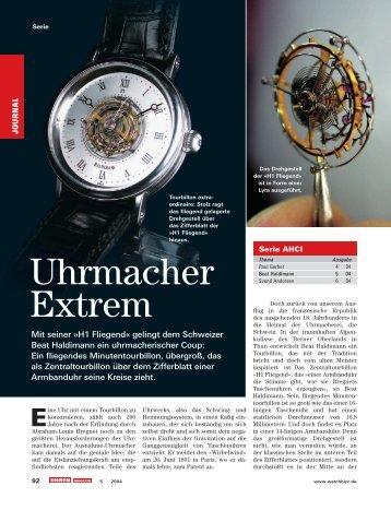 Uhrenmacher Extrem - Haldimann Horology