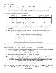 Answers - Avon Chemistry