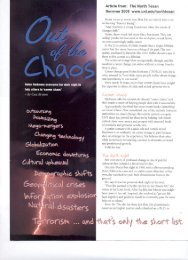 Out of the Chaos - Career Design Associates