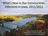 What's New in Our Communities: Infections in Iowa, 2011/2012