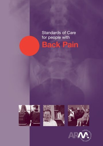 Back Pain Booklet - The Arthritis and Musculoskeletal Alliance - uk.net