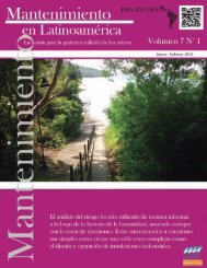 Mantenimiento en Latinoamerica Volumen 7 N° 1