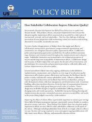 Does Stakeholder Collaboration Improve Education ... - EQUIP123.net