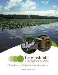 2011 Annual Report (pdf, 2 MB) - Cary Institute of Ecosystem Studies