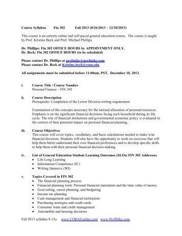 Download class syllabus - COBAEonline.com
