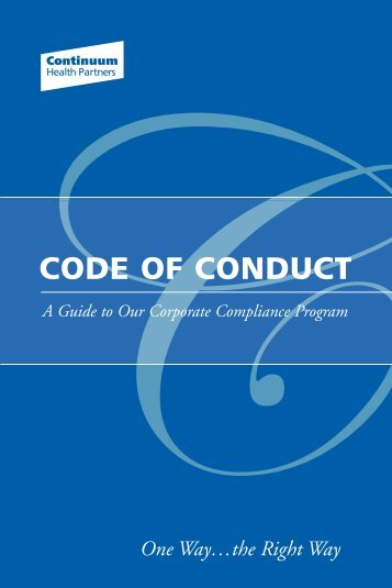 CODE OF CONDUCT - Continuum Health Partners