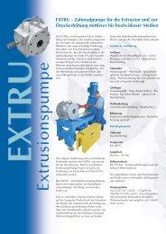 Zahnradpumpen Extrusion - Pumpenagent