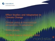Climate policy & International perspectives to adaptation