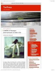 TerPress_ LUMIÉRE III Rassegna Internazionale di Video Arte