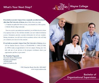 Wayne College What's Your Next Step? - The University of Akron ...