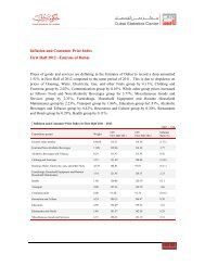 Inflation and Consumer Price Index First Half 2012 - Emirate of Dubai