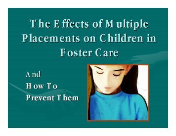 The Physical and Mental Health of Children in Foster Care