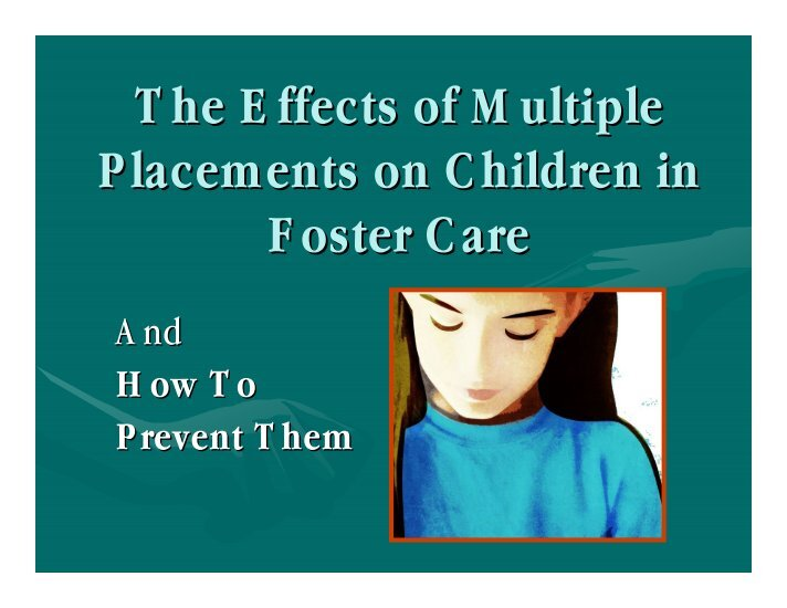 history of foster care in the