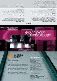 Jahresprogramm - Westbahntheater