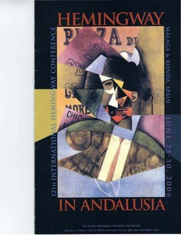 2006 Hemingway In Andalusa - Hemingway Society