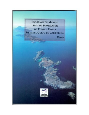 Programa de Manejo del Área de Protección de Flora y Fauna Islas ...