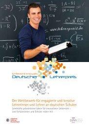 Flyer 2009 - Deutscher Lehrerpreis