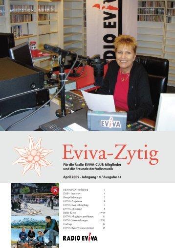 Die aktuelle Eviva-Zytig Nr. 41 zum Downloaden - Radio Eviva