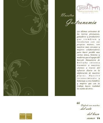 Descargar carta restaurante Marboré - Barcelo.com