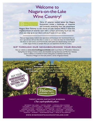 Download a Printable Map - Wineries of Niagara-on-the-Lake