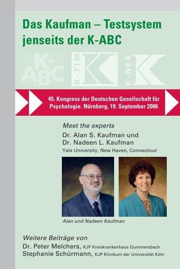 Das Kaufman – Testsystem jenseits der K-ABC -  PITS
