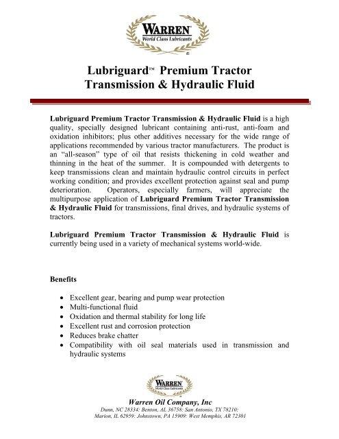 Lubriguard Premium Tractor Transmission & Hydraulic Fluid