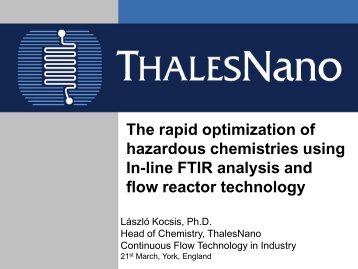 The Rapid Optimization of Hazardous Chemistries ... - RSC Chemicals