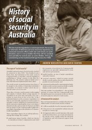 History of social security in Australia History of social security in ...