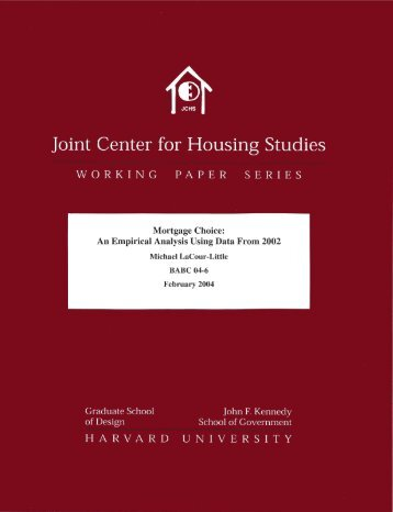 Untitled - Joint Center for Housing Studies - Harvard University