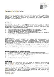 Bedingungen für eine Mitgliedschaft - flexible office netzwerk
