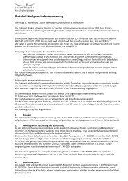 Protokoll Kirchgemeindeversammlung - Reformierte Kirche Brittnau