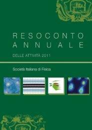 il resoconto annuale - Società Italiana di Fisica