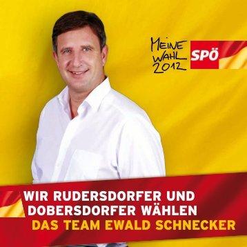 WIR RUDERSDORFER UND DOBERSDORFER ... - SPÖ Rudersdorf