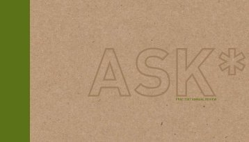 ask*fpac 2007 annual review - Forest Products Association of Canada