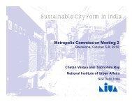 Presentation - National Institute of Urban Affairs